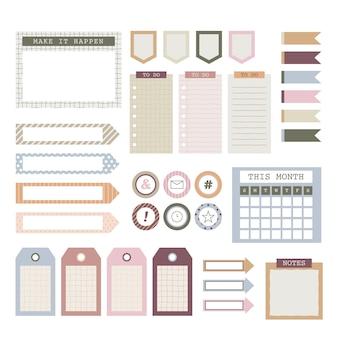 Planner scrapbook set collectie