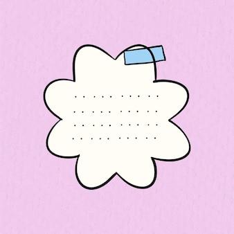 Planner stickers vector op pastel roze achtergrond