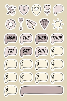 Planner-stickerset