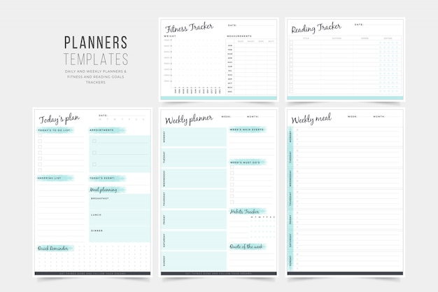 Planner templates-collectie