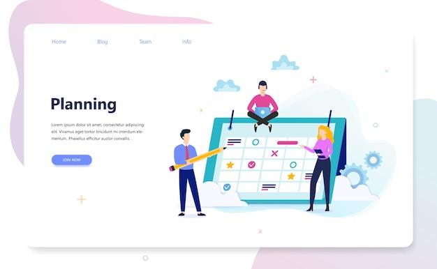 Planning concept. idee van businessplan en strategie.