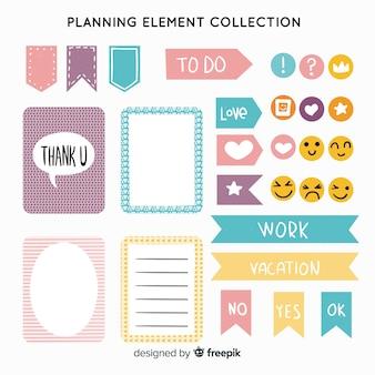 Planning elementen ingesteld
