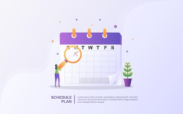 Planning- en planningsconcept, creatie van persoonlijk studieplan, zakelijke tijdplanning, evenementen en nieuws, herinnering en planning.