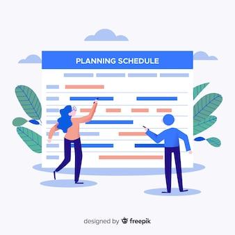 Planning schemasjabloon