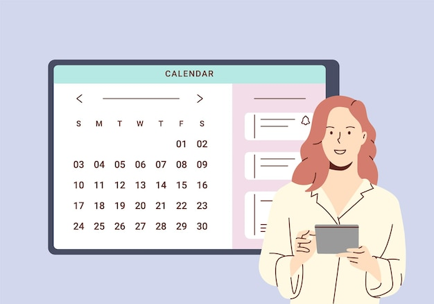 Planningsschema en online kalenderconcept