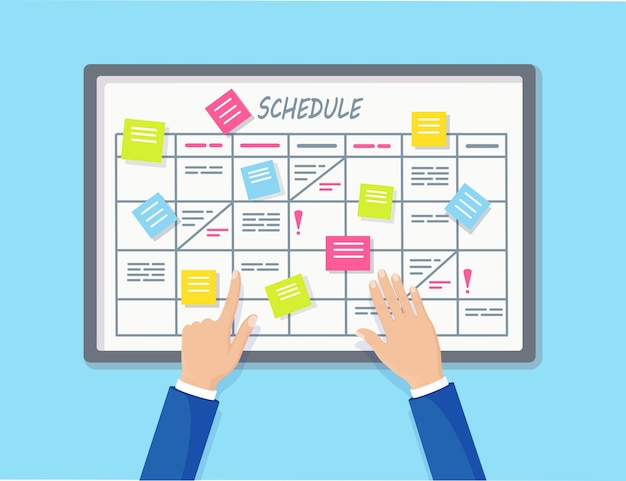 Planningsschema op taakbord