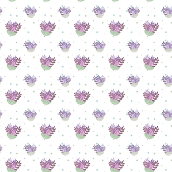 Plant naadloze patroon illustratie achtergrond