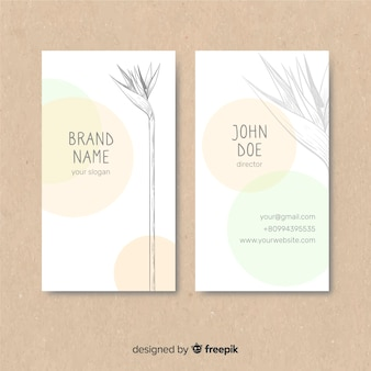Plant schets visitekaartje