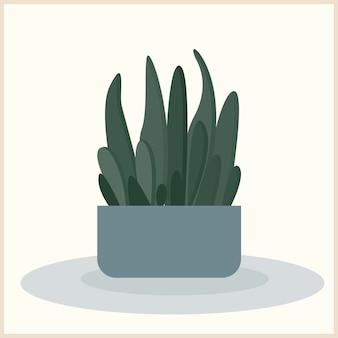 Plant voor gebruik in ontwerp voor interieurafdrukken