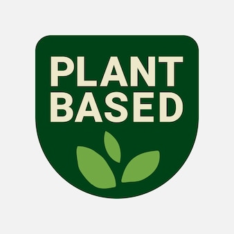 Plantaardige bedrijfslogo vector voedselverpakking sticker
