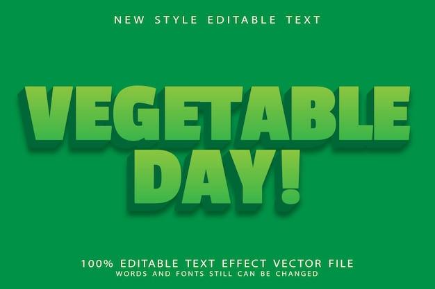 Plantaardige dag bewerkbaar teksteffect reliëf moderne stijl