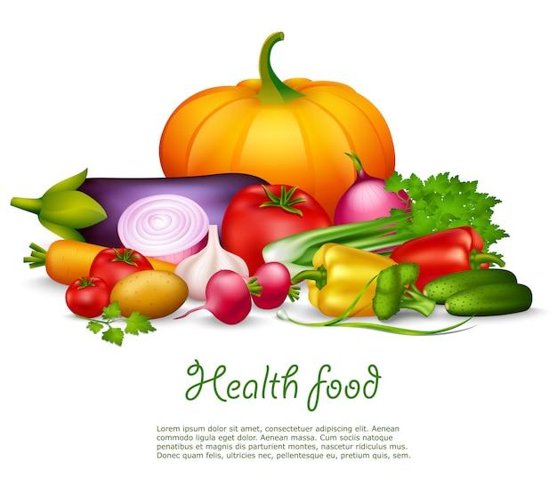 Plantaardige gezonde achtergrond