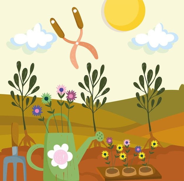 Planten gereedschap tuin