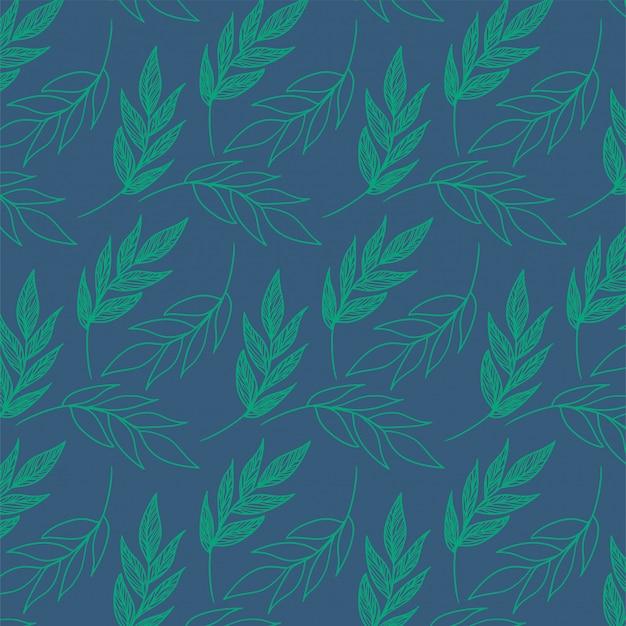 Plantenpatroon met groene bladeren