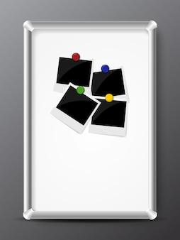 Plastic bord met foto's