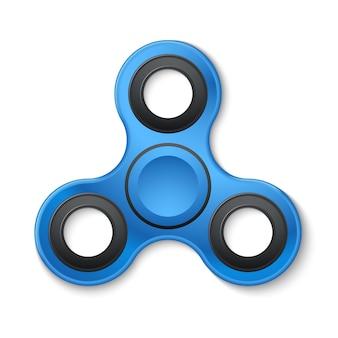 Plastic fidget spinner stress verlichten speelgoed vectorillustratie