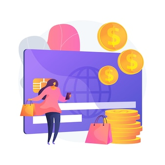 Plastic geld abstract concept illustratie