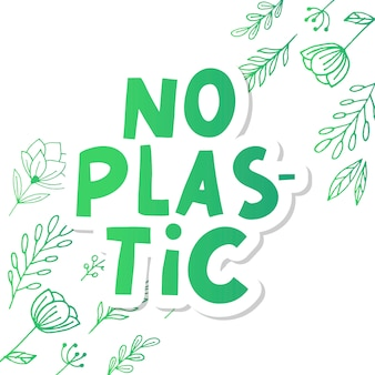 Plastic gratis productteken voor etiketten, stickers geen plastic letters