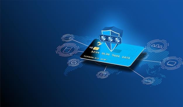 Plastic kaartbetaling of -berekening evenals berekening op internet,