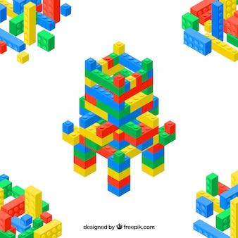 Plastic kasteel delen achtergrond