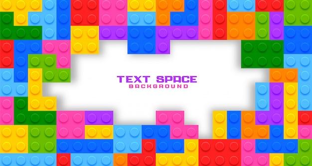 Plastic spelspeelgoed met copyspace
