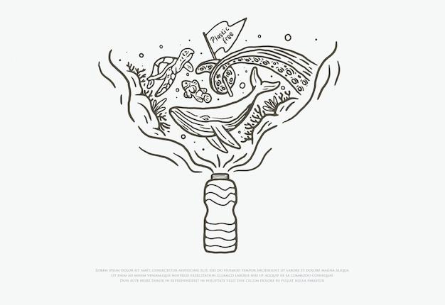 Plastic vrij met premium lijnstijl