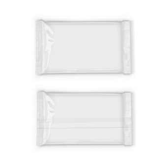 Plastic witte stroomverpakking met transparante geïsoleerde schaduwen