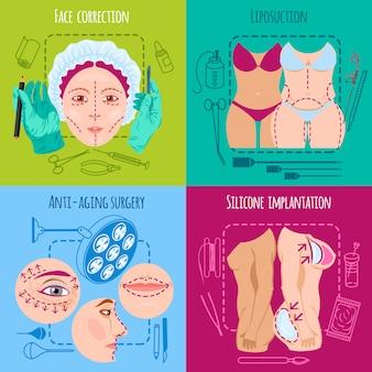 Plastische chirurgie set