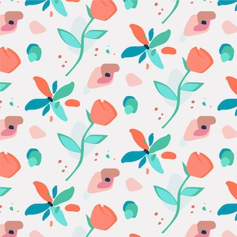 Plat abstract floral patroon