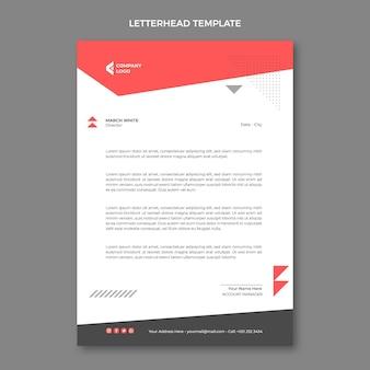 Plat abstract geometrisch onroerend goed briefpapier