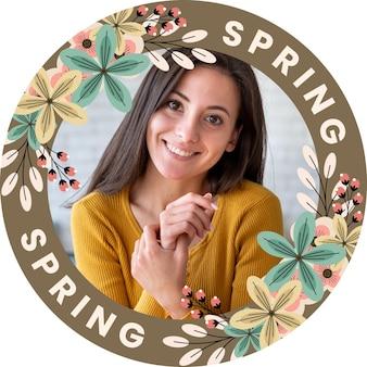 Plat bloemen facebook frame