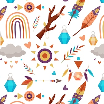 Plat boho-patroonontwerp
