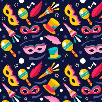 Plat braziliaans carnaval patroon