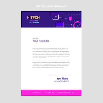 Plat briefpapier met minimale technologie