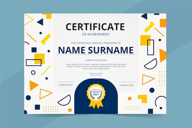 Plat certificaat van prestatie