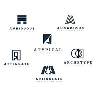Plat een logo-sjablooncollectie