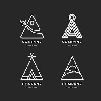 Plat een logo-sjabloonverzameling