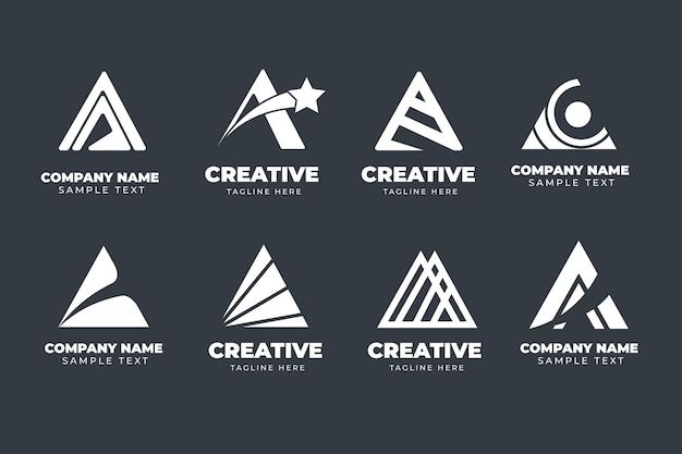 Plat een logo-sjabloonverzameling Gratis Vector
