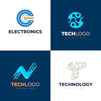 Plat elektronica-logo's pack