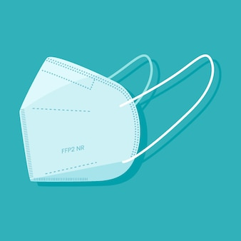Plat ffp2 gezichtsmasker