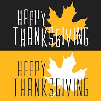 Plat gelukkige thanksgiving poster kaart