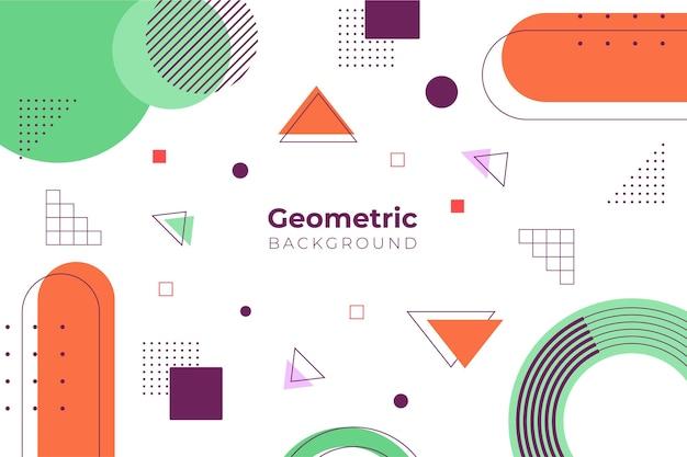 Plat geometrische achtergrond