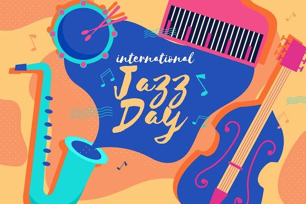 Plat internationale jazzdag concept