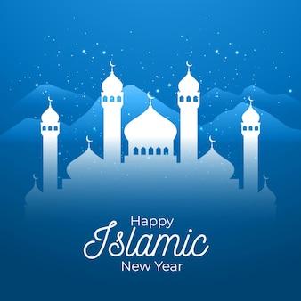 Plat islamitisch nieuwjaar concept