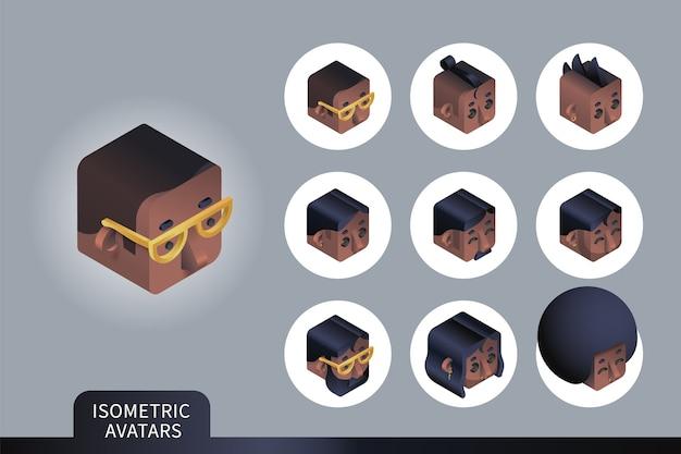 Plat isometrische set
