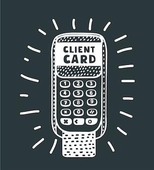 Plat isometrische winkelwagentje op smartphonescherm, betalingen van creditcard via telefoon. 3d-isometrie het concept van de mobiele bankdiensten.