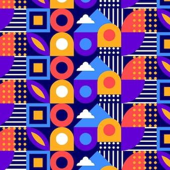 Plat kleurrijk mozaïekpatroon