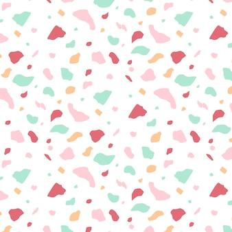 Plat kleurrijk terrazzo patroon