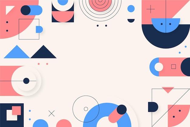 Plat kleurrijke geometrische achtergrond