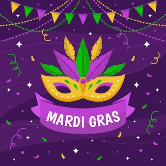 Plat masker van mardi gras